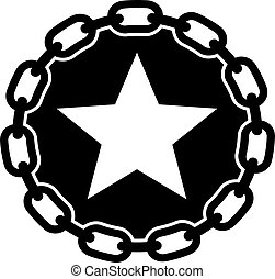 star chain con web icon isolated on a white background.