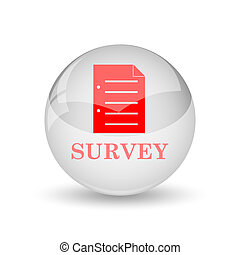 Survey icon Internet button on white background