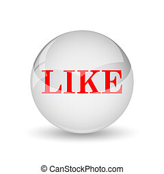 Like icon. Internet button on white background.