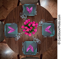 round table modern serving