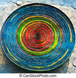 Colorful wheel of clay