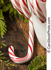 Festive Peppermint Candy Canes - Festive Red and White...
