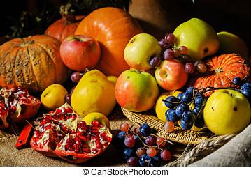 Still harvest festival - Still life harvest festival of...
