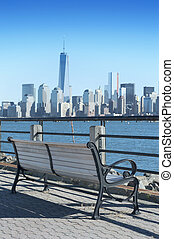 New York City skyline from the Liberty State Park - NEW YORK...
