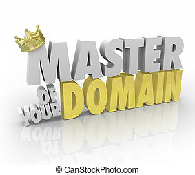 Master of Your Domain Crown on Word King Leader CEO - Master...
