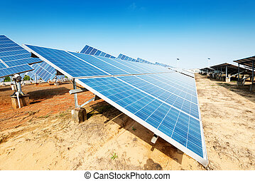 photovoltaic panels - solar panel to produce clean,...