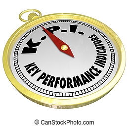Key Performance Indicators KPI Compass Directing Measurement...