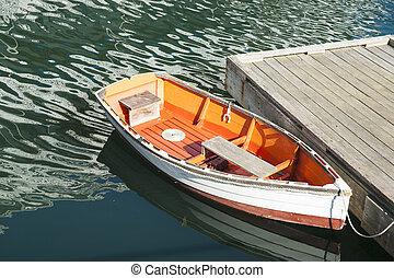 Quaint dinghy.