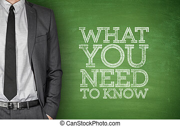 What you need to know on blackboard