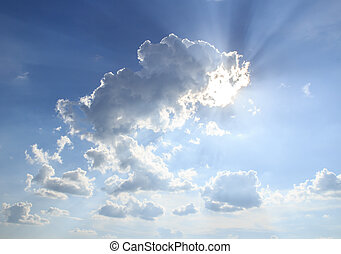 Blue cloudy sky background