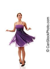 Attractive girl, studio shot - Attractive dancer girl in...