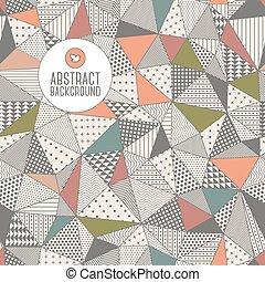 三角形, seamless, pattern., ベクトル, illustration.,