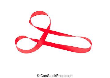 紅色, 帶子, 設計, 形狀, 陰莖,
