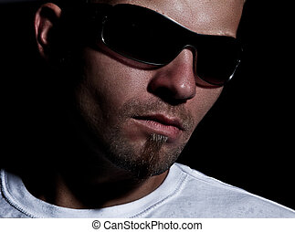 Modern Cool Guy With Sunglasses - Portrait Of A Modern Cool...