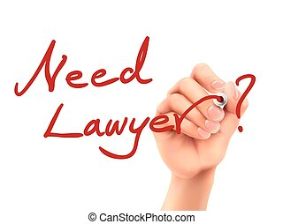 need lawyer words written by hand on a transparent board