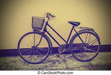 壁, 型, 自転車, グランジ, に対して