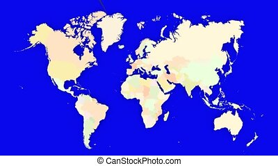 Worldmap Zooms to the Netherlands - A pin marks the...