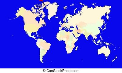 Worldmap Zooms to Portugal