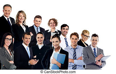 Collage of business experts - Large group of business people