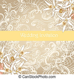 Wedding card in vintage style