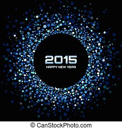 Blue Bright New Year 2015 Background, vector illustration