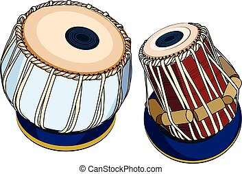 Indian musical instruments - Tabla - vector indian musical...