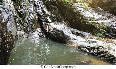 Waterfall in deep forest on Koh Samui. Thailand. HD....