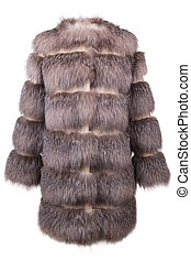 Fur coat - Real fur coat isolated on white background