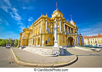 Croatian national theater of Zagreb, Croatia