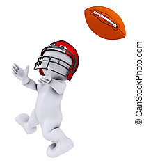 Morph Man playing american football - 3D Render of Morph Man...