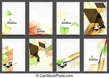 Set of modern flyers, brochures Abstract backgrounds, online...