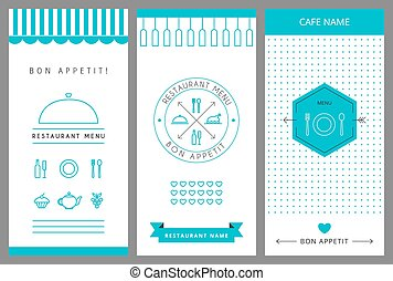 Restaurant menu design template Vector isolated illustration...