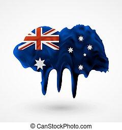Australian flag painted colors