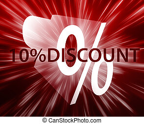 Percent Discount illustration - Ten percent discount, retail...