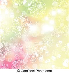New year blur background with snowflakes - New year...