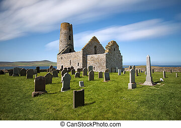 St Magnus Church, Egilsay, Orkney - St Magnus Church on the...