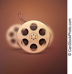 Film Reel - Film reel, retro cinema, eps 10