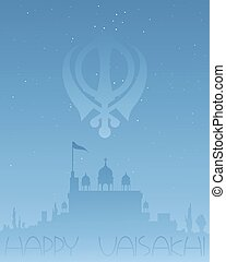 sikh greetings - an illustration of a sikh greeting card...