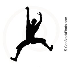 silhouette illustration of senior climber man - illustration...