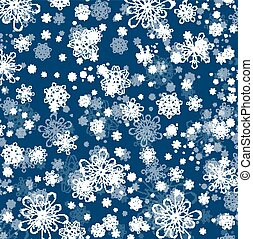 Winter Snowflake Flat Background - Winter Holiday Snowflake...