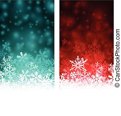 Christmas abstract banners. - Colored winter abstract...