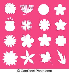 flower vector set