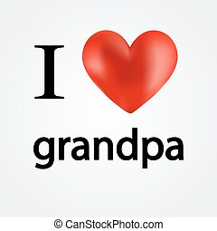 Card i love grandpa - vector illustration