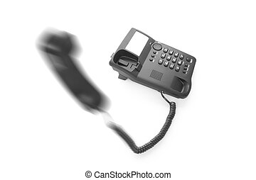 office phone with the handset