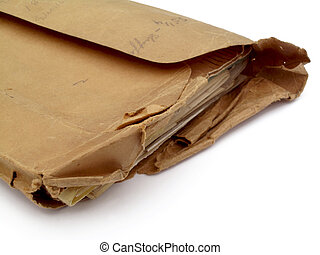 Old envelope - An old envelope overstuffed with important...