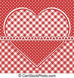 Greeting card with checkered heart