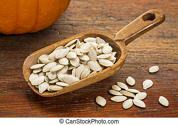 scoop of pumpkin seeds