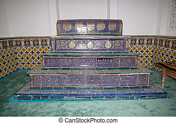Samarkand - The grave at the Kusam ibn Abbas mausoleum at...
