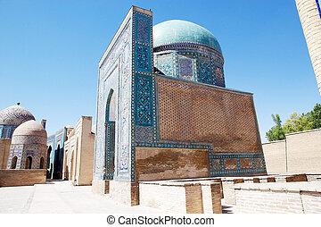 Samarkand - Shah-i-Zinda central group, Samarkand,...