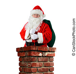 Santa Claus Inside Chimney